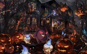 Gengar, Pokemon, Drifloon, Halloween, Gastly, Dusknoir