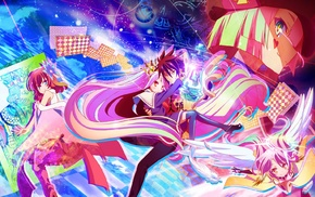 Sora No Game No Life, Tet No Game No Life, anime girls, Shiro No Game No Life, No Game No Life