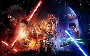 C, 3PO, TIE Fighter, stormtrooper, BB, 8