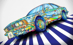 BMW, artwork, car