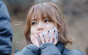 cold, Asian, AOA, Jimin, hand on face