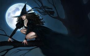 witch, fantasy art, artwork