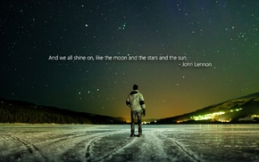quote, people, ice, nature, John Lennon, snow