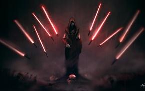Sith, lightsaber, Star Wars, artwork, fantasy art