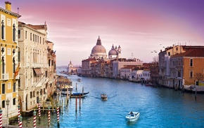 urban, boat, architecture, church, city, Venice