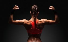 girl, fitness model, muscles