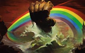 artwork, album covers, music, cover art, rainbows