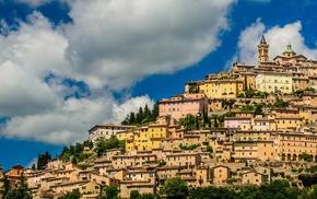 Trevi, town, Italy, architecture, cityscape