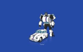 car, minimalism, Transformers, herbie