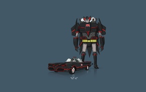 Batman, car, Transformers, minimalism