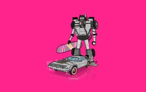 Transformers, DeLorean, minimalism, Back to the Future, car