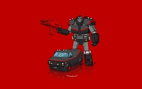 car, Transformers, minimalism, The A, Team