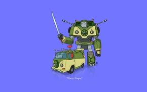 car, Teenage Mutant Ninja Turtles, Transformers, minimalism