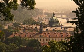Prague, flag, cathedral, bridge, capital, history