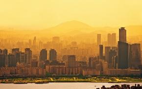 Seoul, sunrise, city, South Korea