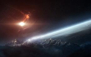 planet, universe, digital art