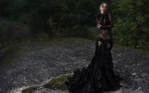 see, through clothing, model, Olga Kobzar, girl, girl outdoors