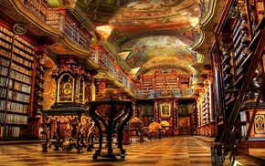library, Klementinum, Prague, Czech Republic, building, architecture