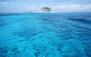 sea, water, nature, island