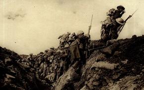 military, British Army, Trenches, World War I