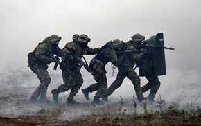 smoke, special forces, soldier, Russia, Russian Army, Russian
