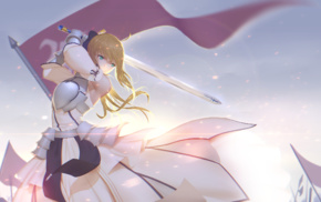 sword, Saber, Fate Series, long hair, anime girls, FateStay Night