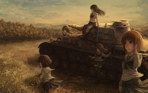 Girls und Panzer, tank, anime girls