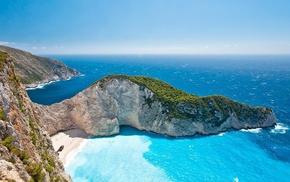 Greece, Zakynthos, landscape, navagio beach