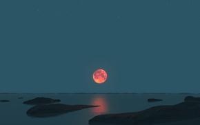 moon, landscape