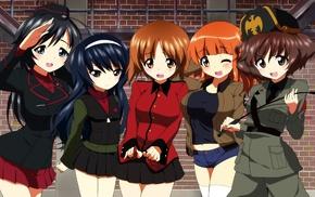 Nishizumi Miho, anime girls, Akiyama Yukari, anime, Nishizumi Maho, Girls und Panzer