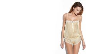 panties, brunette, Daniela Freitas, girl outdoors, model, white background