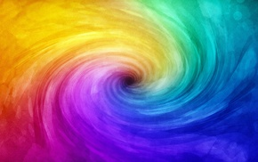 abstract, spiral, colorful