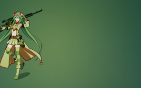 Vocaloid, anime girls, anime, girl with guns, Megpoid Gumi