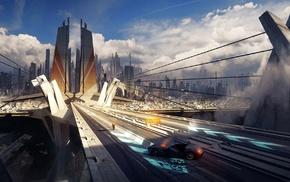 city, futuristic city, futuristic, future city