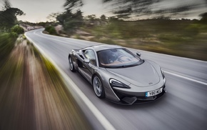 road, McLaren, McLaren 570S, motion blur, car, supercars