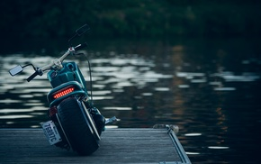 vehicle, water, nature, motorcycle