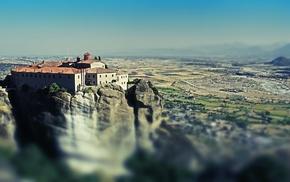 landscape, monastery, rock
