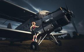 antonov, model, Antonov An, 2, girl, girl with planes