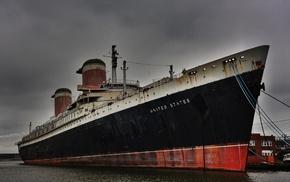 Philadelphia, USA, chains, HDR, dock, ropes