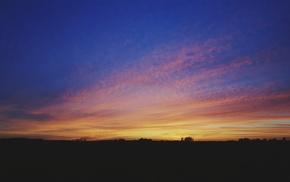 colorful, clouds, sky, landscape, nature, sunset