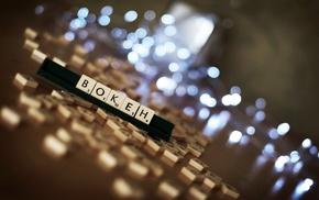 depth of field, lights, blurred, table, bokeh, numbers