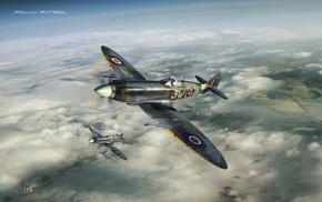 spitfire, warplanes
