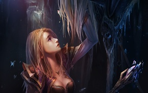fantasy art, Arthas, Chenbo, artwork, Jaina Proudmoore, Warcraft