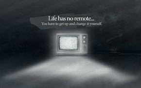 TV, monochrome, digital art