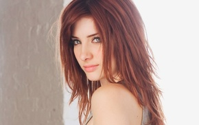 looking at viewer, Susan Coffey, face, eyes, long hair, simple background