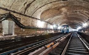 metro, tunnel, underground