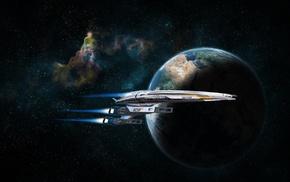 spaceship, video games, Mass Effect, space, Mass Effect 2, artwork
