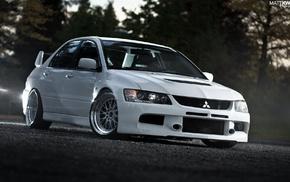 tuning, car, JDM, Mitsubishi Lancer Evolution IX