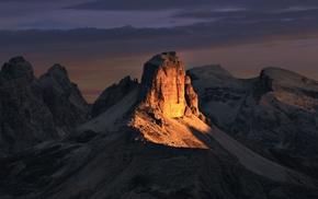 Alps, nature, sunset, landscape, mountain, sunlight
