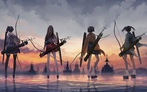 Souryuu KanColle, Akagi KanColle, Hiryuu KanColle, Kantai Collection, Kaga KanColle, anime girls